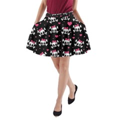 Cute Skulls  A Line Pocket Skirt by Valentinaart