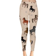 Horses Pattern Leggings  by Vanbedor