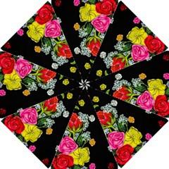 Floral Rhapsody Pt 4 Golf Umbrellas by dawnsiegler