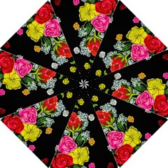 Floral Rhapsody Pt 4 Hook Handle Umbrellas (large) by dawnsiegler