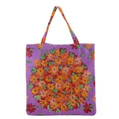 Floral Sphere Grocery Tote Bag by dawnsiegler