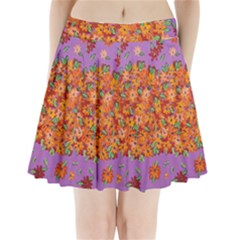 Floral Sphere Pleated Mini Skirt by dawnsiegler