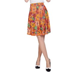 Floral Sphere A Line Skirt by dawnsiegler
