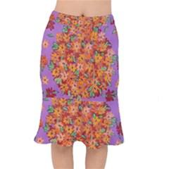Floral Sphere Mermaid Skirt by dawnsiegler