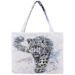 Snow Leopard 1 Mini Tote Bag by kostart