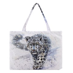 Snow Leopard 1 Medium Tote Bag by kostart