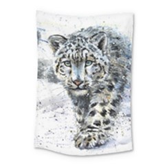 Snow Leopard 1 Small Tapestry by kostart