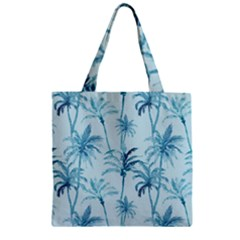 Watercolor Palms Pattern  Zipper Grocery Tote Bag by TastefulDesigns