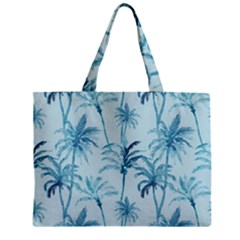 Watercolor Palms Pattern  Zipper Mini Tote Bag by TastefulDesigns