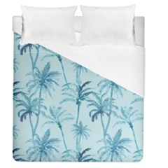 Watercolor Palms Pattern  Duvet Cover (queen Size) by TastefulDesigns