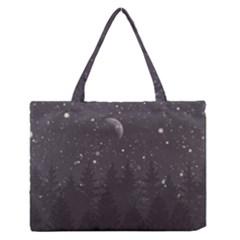 Night Full Star Medium Zipper Tote Bag by berwies
