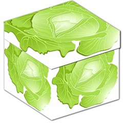 Cabbage Leaf Vegetable Green Storage Stool 12   by Mariart