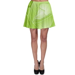Cabbage Leaf Vegetable Green Skater Skirt by Mariart