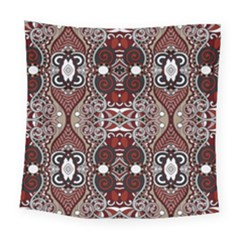 Batik Fabric Square Tapestry (large) by Mariart