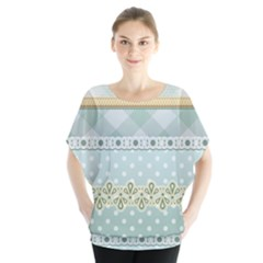 Circle Polka Plaid Triangle Gold Blue Flower Floral Star Blouse by Mariart