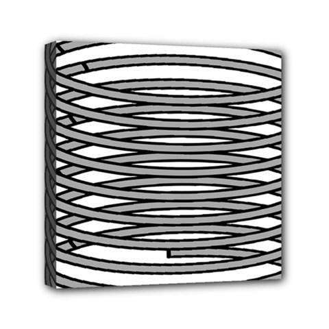 Circular Iron Mini Canvas 6  X 6  by Mariart
