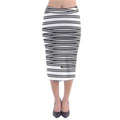 Circular Iron Midi Pencil Skirt by Mariart