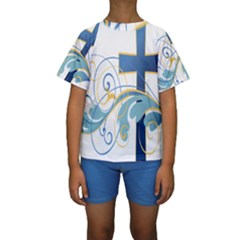 Easter Clip Art Free Religious Kids  Short Sleeve Swimwear by Mariart