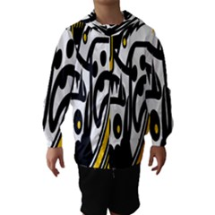 Easter Monster Sinister Happy Magic Rock Mask Face Polka Yellow Hooded Wind Breaker (kids) by Mariart