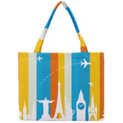 Eiffel Tower Monument Statue Of Liberty Mini Tote Bag by Mariart