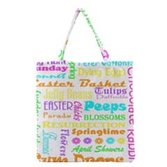 Easter Subway Blossoms Color Rainbow Chocolate Grocery Tote Bag by Mariart