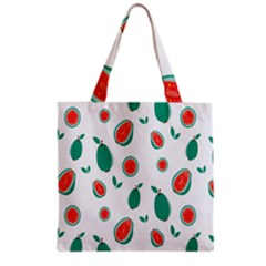 Fruit Green Red Guavas Leaf Grocery Tote Bag by Mariart