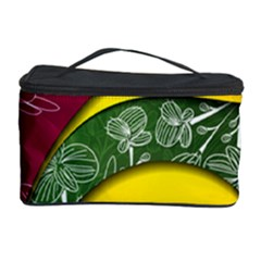 Flower Floral Leaf Star Sunflower Green Red Yellow Brown Sexxy Cosmetic Storage Case