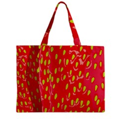 Fruit Seed Strawberries Red Yellow Frees Medium Zipper Tote Bag by Mariart