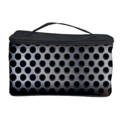 Iron Content Hole Mix Polka Dot Circle Silver Cosmetic Storage Case by Mariart