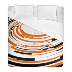 Hole Black Orange Arrow Duvet Cover (full/ Double Size) by Mariart
