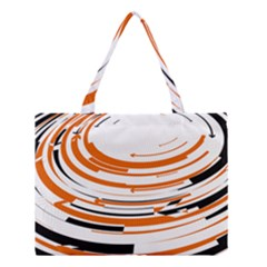Hole Black Orange Arrow Medium Tote Bag by Mariart