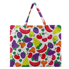 Fruite Watermelon Zipper Large Tote Bag by Mariart