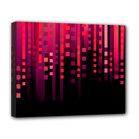 Line Vertical Plaid Light Black Red Purple Pink Sexy Deluxe Canvas 20  X 16   by Mariart
