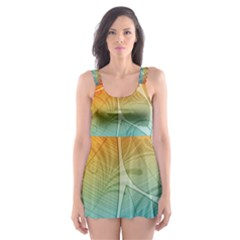 Leaf Color Sam Rainbow Skater Dress Swimsuit by Mariart