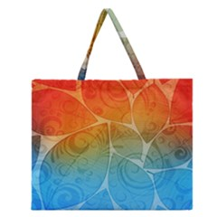 Leaf Color Sam Rainbow Zipper Large Tote Bag by Mariart