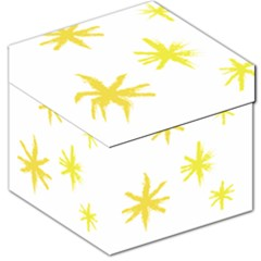 Line Painting Yellow Star Storage Stool 12   by Mariart