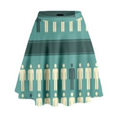 Man Peoplr Line High Waist Skirt by Mariart