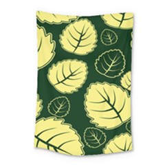 Leaf Green Yellow Small Tapestry by Mariart