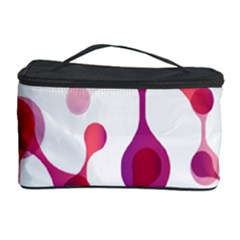 Molecular New Pink Purple Cosmetic Storage Case by Mariart