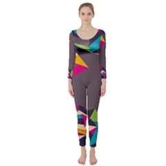 Origami Bird Japans Papper Long Sleeve Catsuit by Mariart