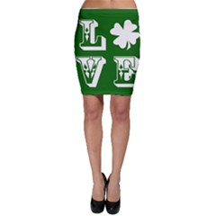 Parks And Tally Love Printable Green Bodycon Skirt by Mariart