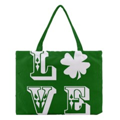 Parks And Tally Love Printable Green Medium Tote Bag by Mariart