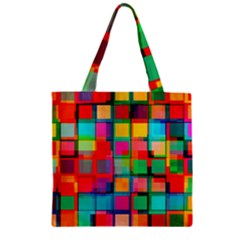 Plaid Line Color Rainbow Red Orange Blue Chevron Zipper Grocery Tote Bag by Mariart