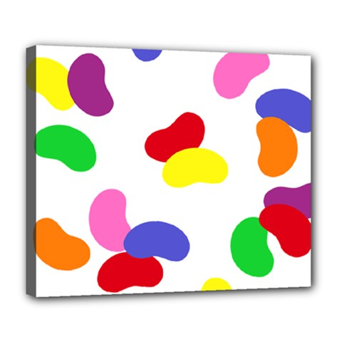 Seed Beans Color Rainbow Deluxe Canvas 24  X 20   by Mariart
