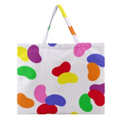 Seed Beans Color Rainbow Zipper Large Tote Bag by Mariart