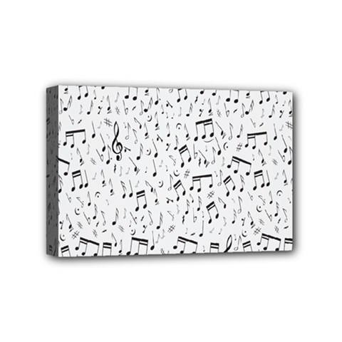 Musical Notes Song Mini Canvas 6  X 4  by Mariart