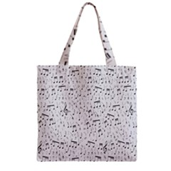 Musical Notes Song Zipper Grocery Tote Bag by Mariart