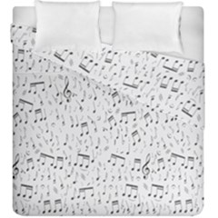 Musical Notes Song Duvet Cover Double Side (king Size) by Mariart