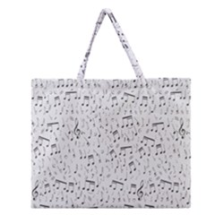 Musical Notes Song Zipper Large Tote Bag by Mariart