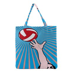 Volly Ball Sport Game Player Grocery Tote Bag by Mariart